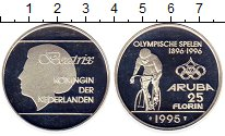 Изображение Монеты Аруба 25 флоринов 1995 Серебро Proof- Олимпиада,велоспорт