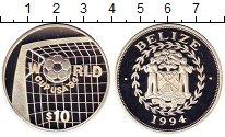 Изображение Монеты Белиз 10 долларов 1994 Серебро Proof-