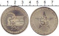 Изображение Монеты Суринам 25 гульденов 1985 Серебро UNC 10  лет  Революции