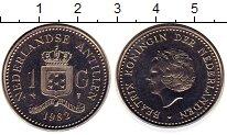 Изображение Монеты Антильские острова 1 гульден 1982 Медно-никель XF