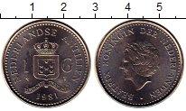 Изображение Монеты Антильские острова 1 гульден 1981 Медно-никель XF