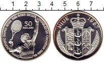Изображение Монеты Ниуэ 50 долларов 1987 Серебро Proof- Олимпиада,Теннис