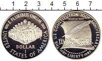 Изображение Монеты США 1 доллар 1987 Серебро Proof- 200-летие конституци