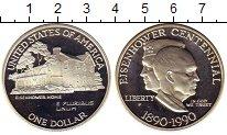Изображение Монеты США 1 доллар 1990 Серебро Proof 100-летие Эйзенхауэр