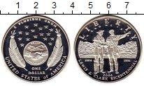 Изображение Монеты США 1 доллар 2004 Серебро Proof 200-летие экспедиции