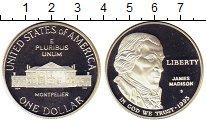 Изображение Монеты США 1 доллар 1993 Серебро Proof Джеймс Мэдисон. Билл