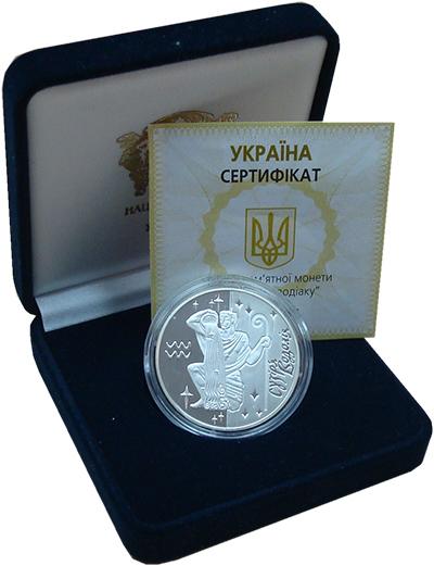 Изображение Подарочные наборы Украина 5 гривен 2007 Серебро Proof <br>Водолей.<br>Вес: