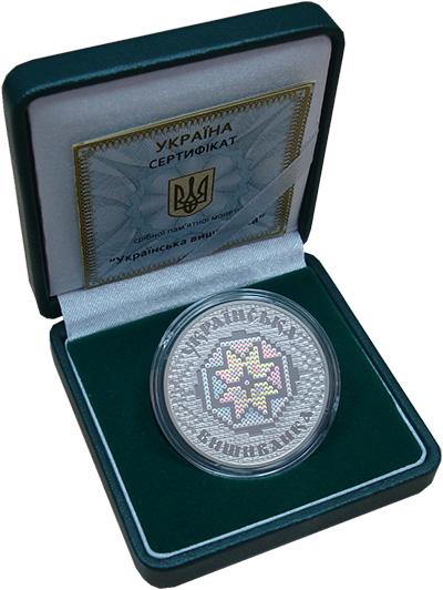 Изображение Подарочные монеты Украина 10 гривен 2013 Серебро Proof Украинская вышиванка