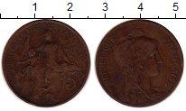 Изображение Монеты Франция 5 сантим 1898 Бронза VF