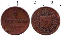 Изображение Монеты Бавария 1 пфенниг 1846 Медь XF-