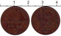 Изображение Монеты Пруссия 2 пфеннига 1846 Медь XF А