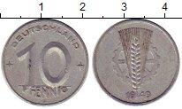Изображение Монеты Германия ГДР 10 пфеннигов 1949 Алюминий XF