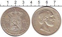Изображение Монеты Нидерланды 2 1/2 гульдена 1873 Серебро XF