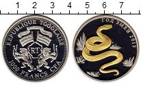 Изображение Монеты Того 1000 франков 2013 Серебро Proof