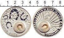 Изображение Монеты Ниуэ 2 доллара 2012 Серебро Proof Монета на удачу.Подк