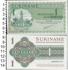 Изображение Банкноты Суринам 1 гульден 1984  UNC