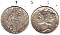 Изображение Монеты США 1 дайм 1943 Серебро XF S