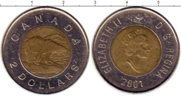 Картинка Монеты Канада 2 доллара Биметалл 2001