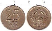 Изображение Монеты Швеция 25 эре 1944 Серебро XF