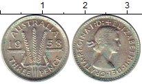 Изображение Монеты Австралия 3 пенса 1958 Серебро UNC-
