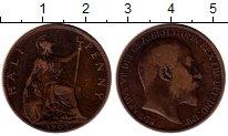 Изображение Монеты Великобритания 1/2 пенни 1902 Бронза XF- Эдуард VII