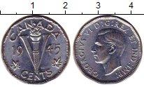 Изображение Монеты Канада 5 центов 1945 Медно-никель XF+