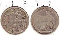 Изображение Монеты Швейцария 1 франк 1861 Серебро VF В