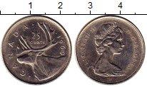 Изображение Монеты Канада 25 центов 1969 Медно-никель XF+