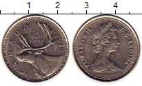 Изображение Монеты Канада 25 центов 1986 Медно-никель XF