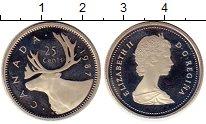 Изображение Монеты Канада 25 центов 1987 Медно-никель Proof- Елизавета II