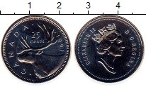 Изображение Монеты Канада 25 центов 1991 Медно-никель UNC-
