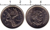 Изображение Монеты Канада 25 центов 2004 Медно-никель UNC- Елизавета II