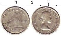 Изображение Монеты Канада 10 центов 1955 Серебро XF