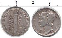Изображение Монеты США 1 дайм 1944 Серебро XF
