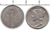 Изображение Монеты США 1 дайм 1944 Серебро XF Растение KM#140
