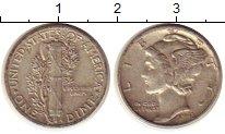 Изображение Монеты США 1 дайм 1943 Серебро XF Растение KM#140