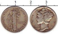 Изображение Монеты США 1 дайм 1942 Серебро XF Растение KM#140
