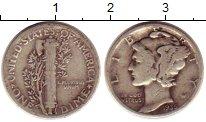 Изображение Монеты США 1 дайм 1935 Серебро XF