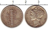 Изображение Монеты США 1 дайм 1947 Серебро XF