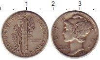 Изображение Монеты США 1 дайм 1939 Серебро XF