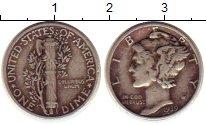 Изображение Монеты США 1 дайм 1939 Серебро XF Растение KM#140