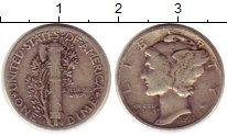 Изображение Монеты США 1 дайм 1937 Серебро XF Растение KM#140