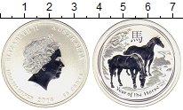 Изображение Монеты Австралия 50 центов 2014 Серебро UNC Год Лошади