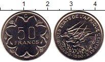 Изображение Монеты Конго 50 франков 1980 Медно-никель UNC-