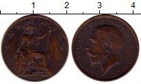 Изображение Монеты Великобритания 1 фартинг 1912 Бронза XF Георг V