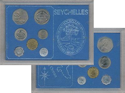 Изображение Подарочные монеты Сейшелы Выпуск монет 1972 года 1972  UNC- Выпуск монет 1972 го