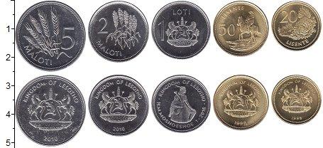 Изображение Наборы монет Лесото Лесото 1998-2010 2010  UNC- В наборе 5 монет ном
