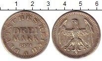 Изображение Монеты Веймарская республика 3 марки 1924 Серебро XF A