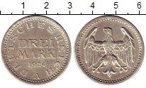 Изображение Монеты Веймарская республика 3 марки 1924 Серебро XF+ A