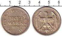 Изображение Монеты Веймарская республика 3 марки 1924 Серебро XF+ F